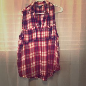 ROCK&REPUBLIC plaid tank